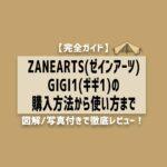 【完全ガイド】ZANEARTS(ゼインアーツ)GIGI1(ギギ1)の購入方法から使い方まで